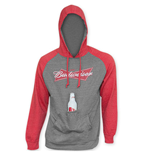 BUDWEISER Men's Raglan Sleeve Beer Pouch Hooded Sweatshirt