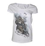 ASSASSIN'S CREED Unity Freedom or Death Large T-Shirt, Adult Female, White