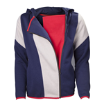 ASSASSIN'S CREED Unity Stripe Large Cape Hoodie, Adult Female, Blue/White