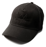 WATCH DOGS Standard 5-Panel Basecap with Embroidered Art, Black