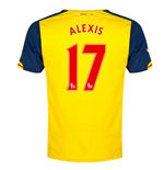 2014-15 Arsenal Away Shirt (Alexis 17)