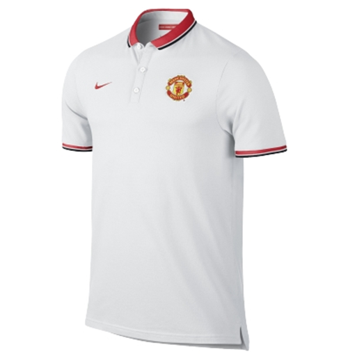Buy Official 2014 15 Man Utd Nike Authentic League Polo Shirt White