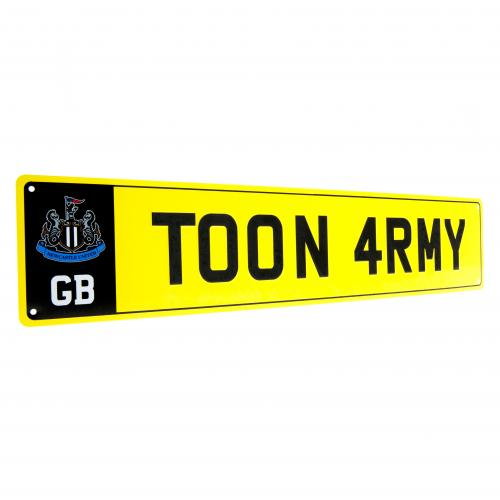 Newcastle United F.C. Number Plate Sign