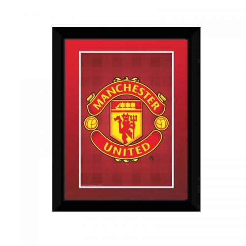 Manchester United F.C. Picture Crest RD 8 x 6