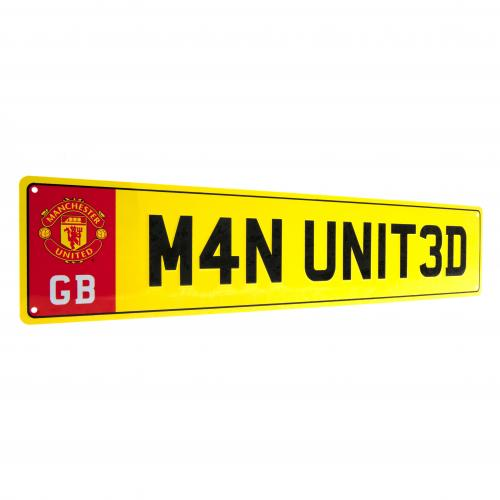 Manchester United F.C. Number Plate Sign