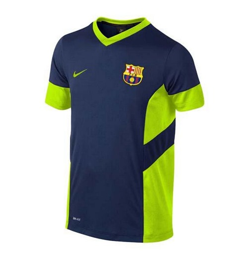 sneakers for cheap c9061 7f261 2014-2015 Barcelona Nike Academy Training Shirt (Navy-Volt)