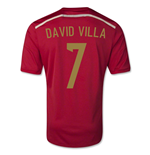 2014-15 Spain World Cup Home Shirt (David Villa 7) - Kids