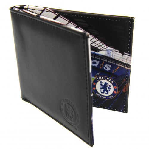 Chelsea F.C. Embossed Leather Wallet Panoramic 801