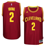 Mens Cleveland Cavaliers Kyrie Irving adidas Garnet New Swingman Road Jersey