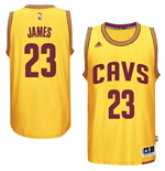 Mens Cleveland Cavaliers LeBron James adidas Gold New Swingman Alternate Jersey