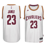 Men's Cleveland Cavaliers LeBron James adidas White New Swingman Home Jersey