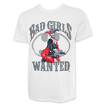 Harley Quinn Bad Girls Wanted Men's Tee Shirt