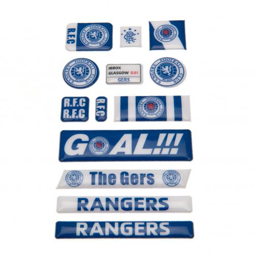 Rangers F.C. Bubble Sticker Set