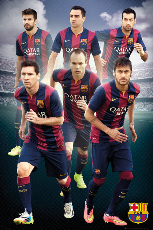 Barcelona Players 14/15 Maxi Poster