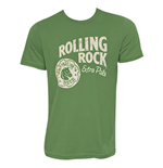 ROLLING ROCK White Logo Men's Green T-Shirt
