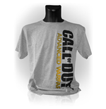 CALL OF DUTY Advanced Warfare Vertical Logo Large T-Shirt, Grey Melange