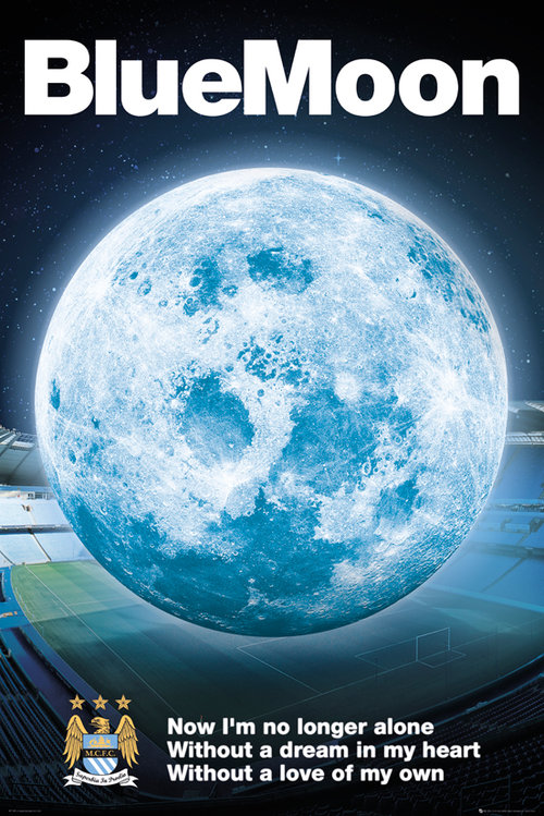 Manchester City Blue Moon 14/15 Maxi Poster