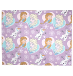 Frozen Rotary Fleece Blanket Crystal 120 x 150 cm