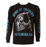 SONS OF ANARCHY Blue Logo Long Sleeve Tee Shirt