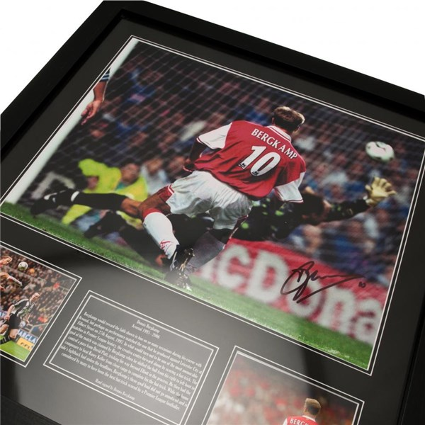 Arsenal F.C. Bergkamp Signed Framed Print
