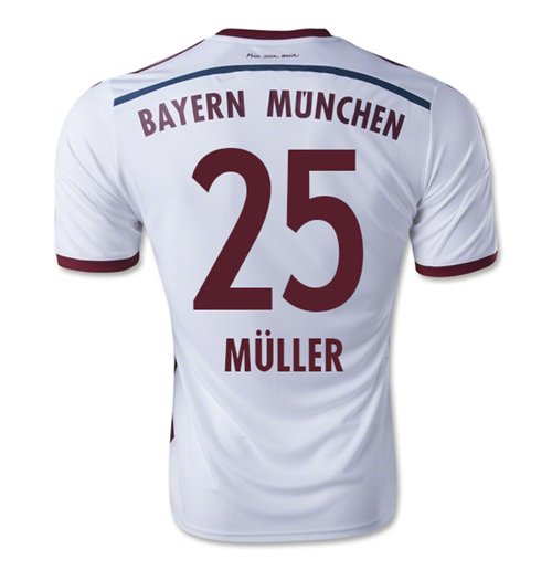 2014-15 Bayern Munich Away Shirt (Muller 25)