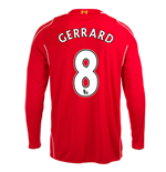 2014-15 Liverpool Long Sleeve Home Shirt (Gerrard 8)