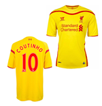 2014-15 Liverpool Away Shirt (Coutinho 10) - Kids