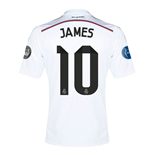 2014-15 Real Madrid UCL Home Shirt (James 10) - Kids