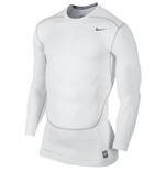 Nike Core Compression 2.0 Long Sleeve Top (White)