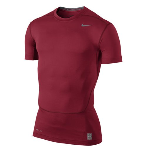 Nike Core Compression 2.0 Short Sleeve Top (Red)