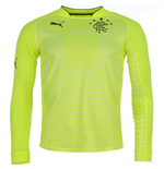 2014-2015 Rangers Puma Home Goalkeeper Shirt (Yellow) - Kids