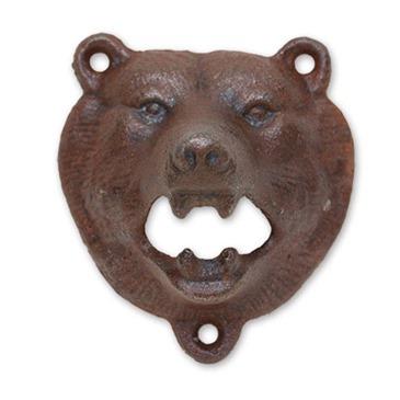 official brown bear iron wall mount bottle opener buy   offer