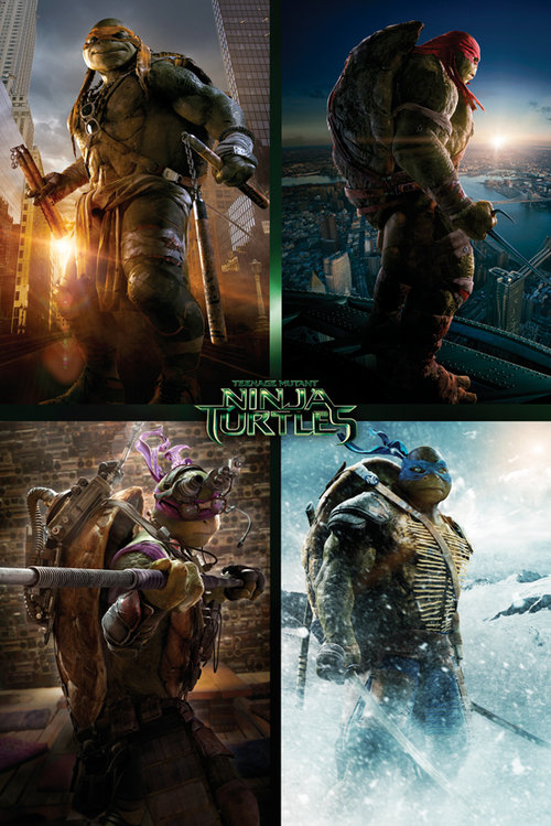 Ninja Turtles Movie Quad Maxi Poster