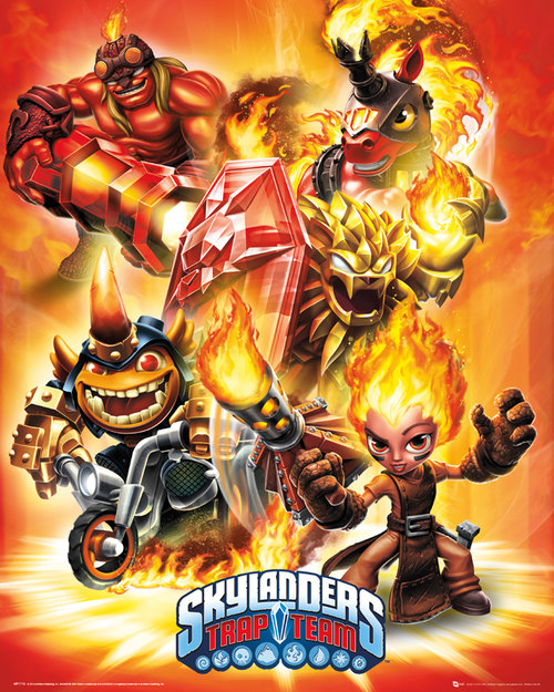 Skylanders Trap Team Mini Poster