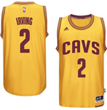 Mens Cleveland Cavaliers Kyrie Irving adidas Gold New Swingman Alternate Jersey