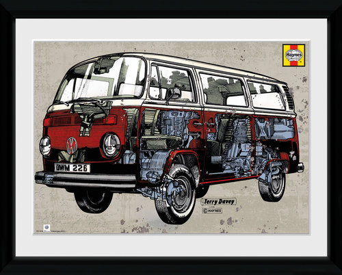 VW Haynes Campervan Framed Collector Print