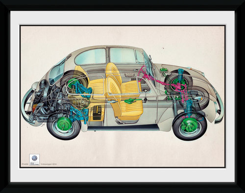 VW Camper Cross Framed Collector Print
