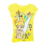 DISNEY Tinkerbell Girls 7-16 Yellow Tee Shirt