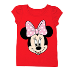 DISNEY Minnie Mouse Face Girls 7-16 Tee Shirt