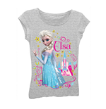 Disney FROZEN Grey Elsa Girls 7-16 Tee Shirt