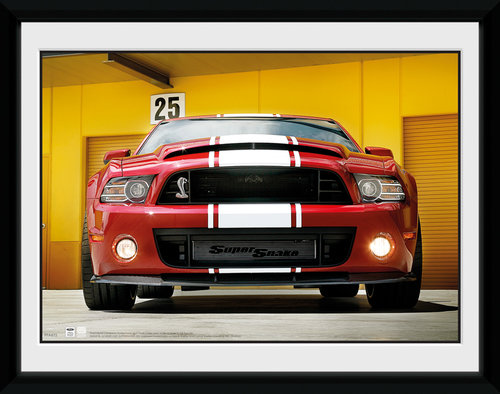 Ford Shelby GT500 Front Framed Collector Print