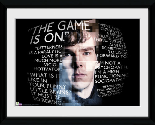 Sherlock Sherlock Quotes Framed Collector Print