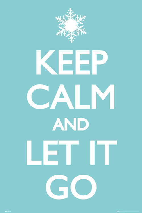 Keep Calm Let it Go Maxi Poster