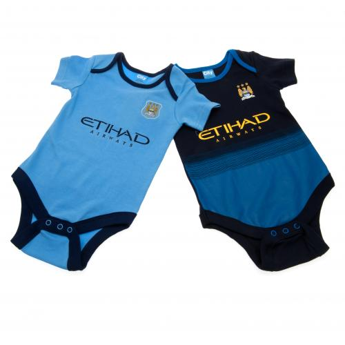Manchester City F.C. 2 Pack  Bodysuit 12/18 mths