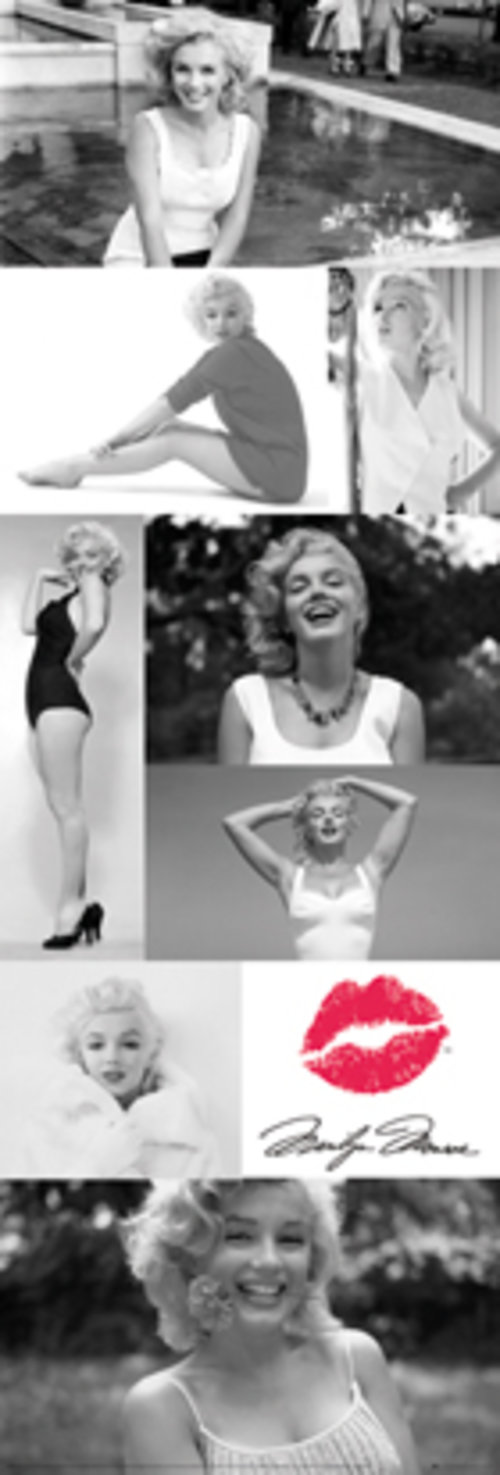 Marilyn Monroe Tiled Door Poster