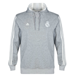 2014-2015 Real Madrid Adidas Core Hooded Top (Grey)