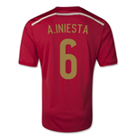 2014-15 Spain World Cup Home Shirt (A.Iniesta 6)