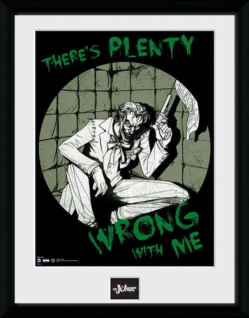 Batman Comic Joker Plenty Wrong Framed Collector Print