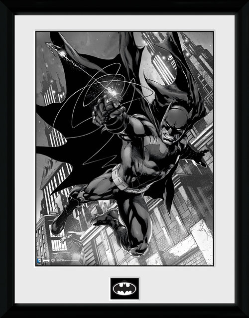 Batman Comic Hook Framed Collector Print