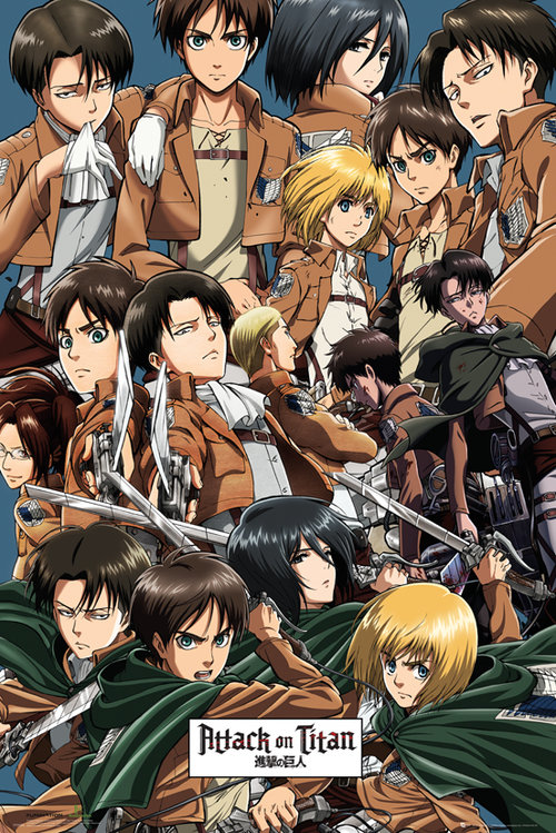 Attack on Titan Collage Maxi Poster
